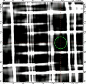 Radar View Of A Rebar